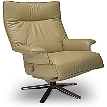 Valentina Recliner Sand Leather Lafer Recliner Chairs