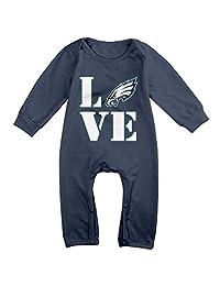 I Love Philadelphia Logo Eagles Baby Onesie Romper Jumpsuit Newborn Baby Clothes