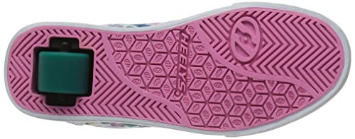 Heelys Unisex Launch Sneaker Low Hals Elfenbein (White / Teal / Multi Geo)