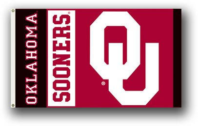 BSI Oklahoma Sooners Logo 3X5 Flag With Metal Grommets by BSI