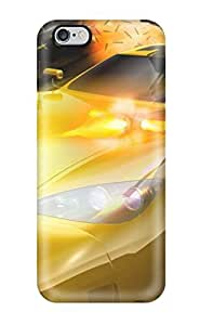 Iphone Cover Case - Yellow Car With Machine Guns Protective Case Compatibel With Iphone 6 Plus
