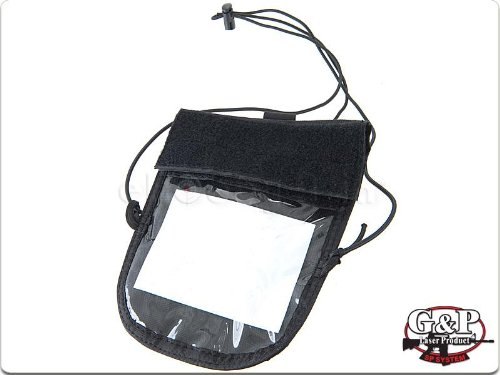 G&P Military Neck ID Pouch / Wallet (Black) (2 (Black Military Neck Strap)