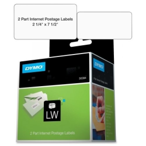 Dymo 30384 2-Part Internet Postage - Labels - black on white - 2.25 in x 7.5 in 150 label(s) ( 1 roll(s) x 150 ) - for DYMO Desktop Mailing (Internet Pc Postage Labels)