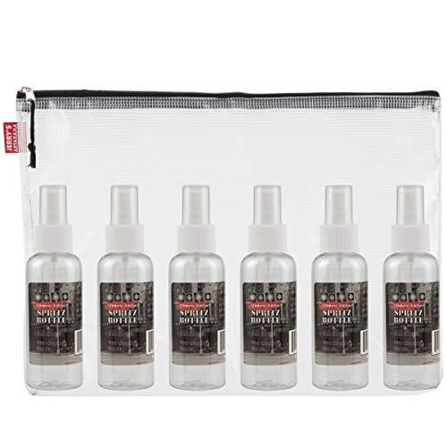 Soho Urban Artist Spray Bottle Set of 8 w/Mesh Bag - Empty, Travel Sized, Fine Mist, Refillable, Screw Top Bottles, Mesh Carry Bag - [Set of 8]