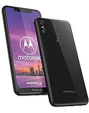 Motorola One - Smartphone Android One (pantalla de 5.9'' ratio 19:9, cámara dual de 13 MP, 4 GB de RAM, 64 GB, Dual Sim), color negro, and the description will be Motorola One - Smartphone Android One (pantalla de 5.9'' ratio 19:9, cámara dual de 13 MP, 4 GB de RAM, 64 GB, Dual Sim), color negro