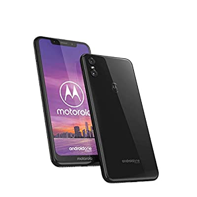 Motorola One, Smartphone Android Display 5,9? in 19:9, Dual Camera da 13Mp, 4/64 GB, Dual Sim, Cover protettiva inclusa, Colore Ceramic Black