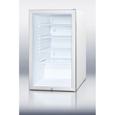 Summit SCR450L7ADA Refrigerator, Glass/White