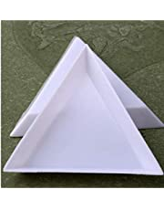 10pcs Triangular Sorting Trays for Beads, Crafts, Jewellery, Nail Art Rhinestones Crystal Bead, Small Parts