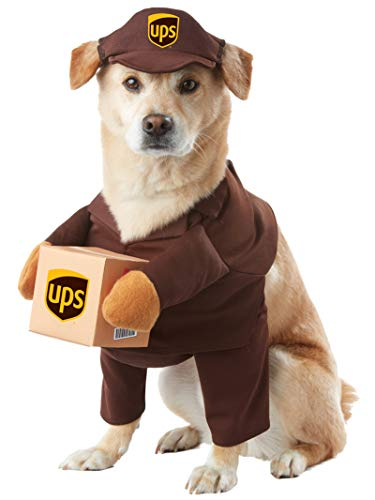 Cute Shih Tzu Halloween Costumes (Brown_UPS PAL Dog Costume)