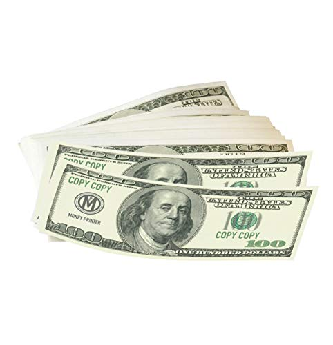Money Printer, 100 Dollar Bills Prop Money, Premium Quality Play Money, Pack of 100 Bills, Copy (Christmas Bill Dollar)