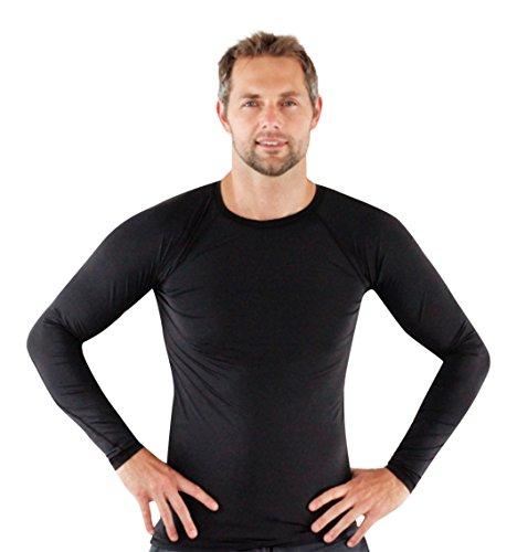 Rash Guard For Men Compression And Base Layer Shirt Black