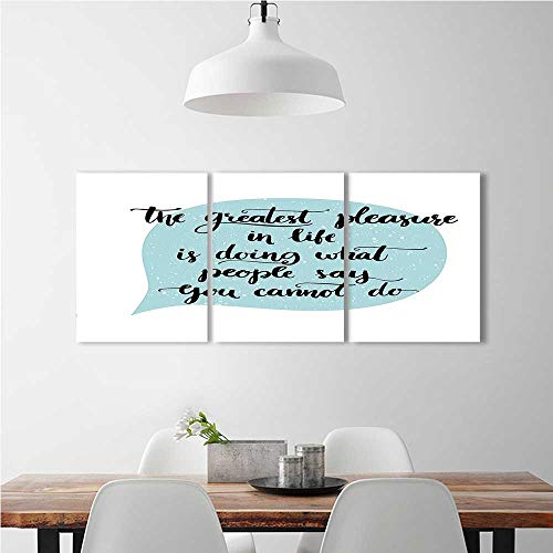 aolankaili 3 Piece Wall Art Painting Frameless Greatest Things in Life Themed Motivational Quotation in a Talk Baloon Art Posters Wall Decor Gift W16 x H32 x 3pcs
