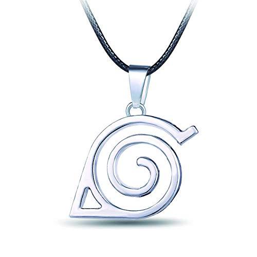(HappyShip Naruto Necklace Naruto Leaf Necklace Naruto Leaf Village Symbol Logo Pendant Necklace (Leaf)