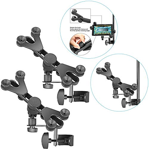 Neewer 2-Pack Extendable Tablet Holders with Music Microphone Stand Clamp, 360 Degree Swivel and 6-11 inches Adjustable for Apple iPad Mini Air Pro Google Nexus Samsung Galaxy