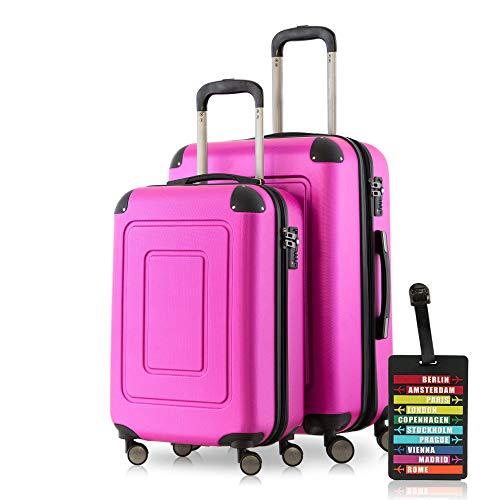 Happy Trolley Lugano Luggage Set, 66 cm, 78 liters, Pink (Magenta)