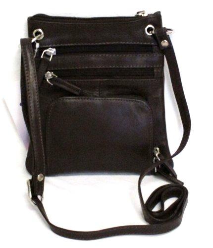 Iris Tyler Leather Sling Bag with Organizer (Brown): Handbags ...
