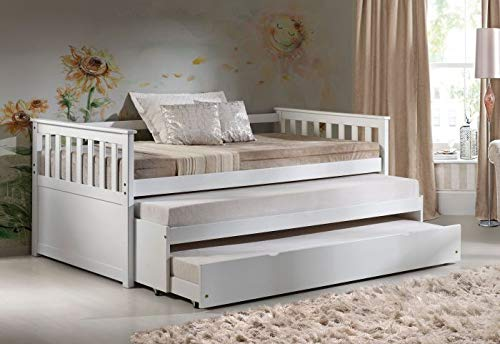 acme Cominia Daybed & Pull-Out Bed, White (1Set/2Ctn) Mission/White/