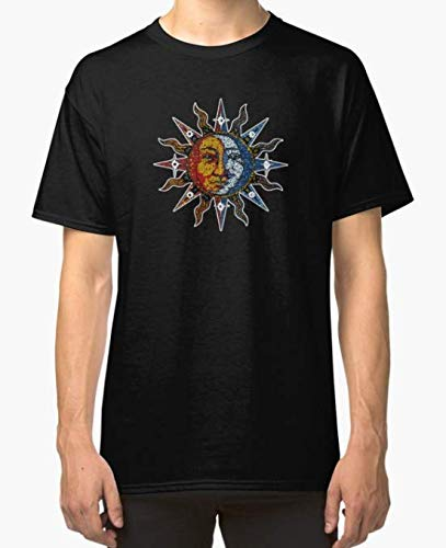 Celestial Mosaic Sun - T-Shirt 100% Cotton for Man and Woman