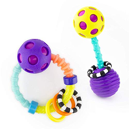Sassy My First Bend & Flex Rattle Set - 2 Piece - for Ages 0+ (Best Sassy Rattle)
