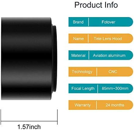 Microfiber Cleaning Cloth,Black 52mm Metal Lens Cap,Fotover Universal Metal Screw-in Lens Cap Cover Replacement for Canon Nikon Sony Pentax Olympus Fuji DSLR Camera