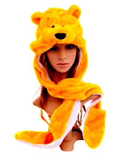 Pooh Bear Yellow Animal Plush Hat 3in1 - USA Seller by Animal (Pooh Bear Costume)