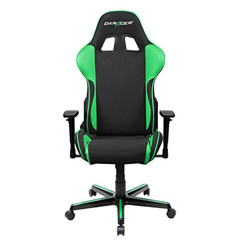 DXRacer OH/FH11/NE Black & Green Formula Series Gaming Chair Ergonomic High Backrest Office Computer Chair Esports Chair Swivel Tilt and Recline with Headrest and Lumbar Cushion + Warranty