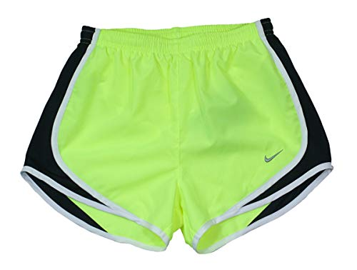 Nike Women's Dri-FIT Tempo Track 3.5 Short, Volt/Black/White/Matte Silver XS X by Nike (Image #2)