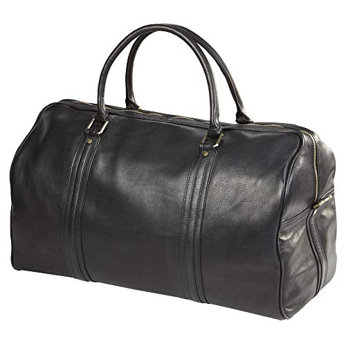 (CLAVA LEATHER ROADSTER DUFFEL (BLACK))