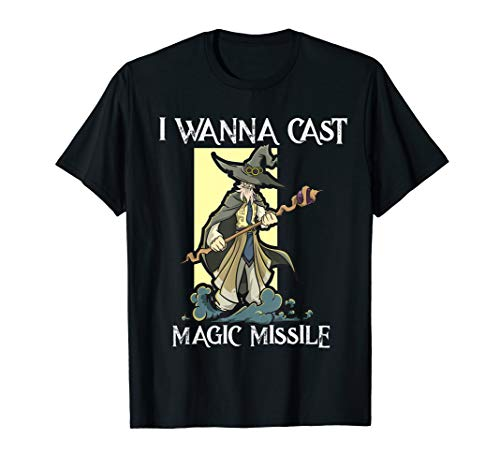 Wizard Mage Class RPG DND T Shirt GM Dungeon Magic Missile