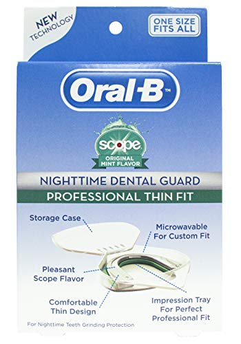 Oral-B® Nighttime Dental Guard - Less Than 3-Minutes for Custom Teeth Grinding Protection with Scope Mint Flavor