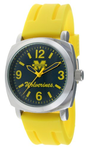 Viva Time Men's 1583MICH-1 Michigan Wolverines Officially Licensed NCAA Rubber Strap Watch