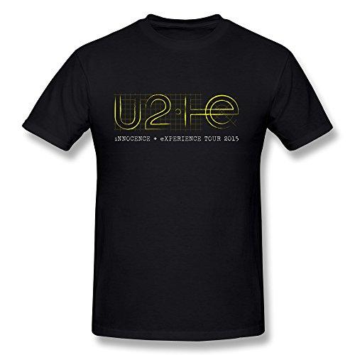 QDYJM Men's U2 Innocence + Experience Tour Logo T-shirt - M Black