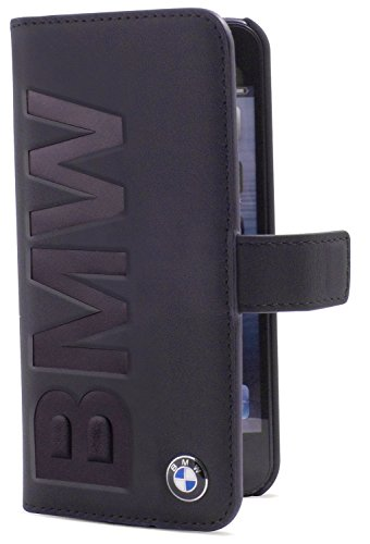 Etui en cuir avec logo BMW pour iPhone 6 Noir