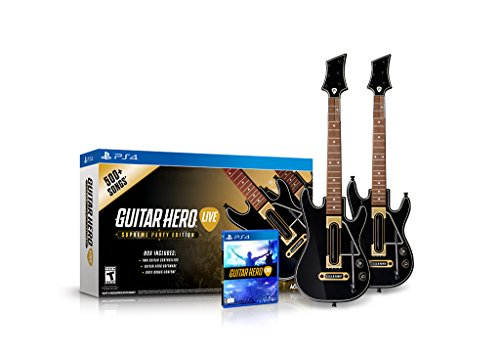 Guitar Hero Live Supreme Party Edition 2 Pack Bundle - PlayStation - Guitar For Hero Playstation 4