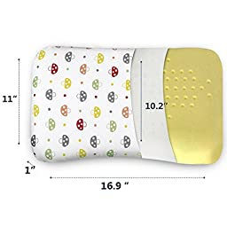 SMELOV Baby Toddler Nursing Pillow Prevent Flat Head,Memory Foam Head Pillow(17\