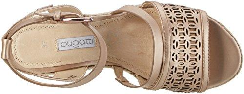 Bugatti V84836n, Sandalias Con Cuña Para Mujer Dorado (Rosegold 355)