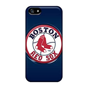 For Iphone 5/5s Tpu Phone Case Cover(boston Red Sox)