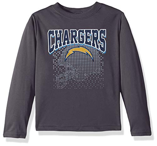 NFL Los Angeles Chargers Male Long sleeve Team Logo Tee, Gray, 18 Months