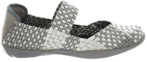 Bernie Mev Women's Cuddly Mary Jane Flat Silver/Grey cheap sale huge surprise free shipping browse free shipping visit huge surprise cheap price perfect cheap price EXIwrMX
