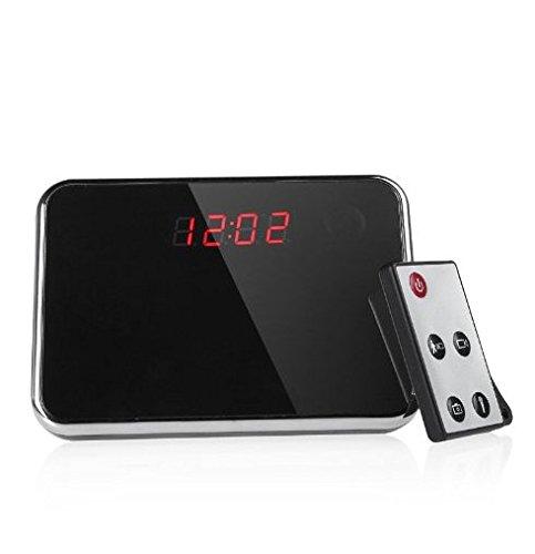 Mengshen/® 1280x960 HD Alarm Clock Hidden Camera Motion Detective Cam Mirror Table Clock DVR with Remote Control MS-CL01