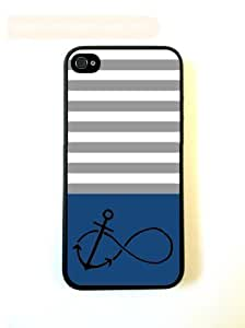 Anchored-Forever Dark Blue & Grey Stripes Black iPhone 5 Case - For iPhone 5/5G - Designer PC Case wangjiang maoyi