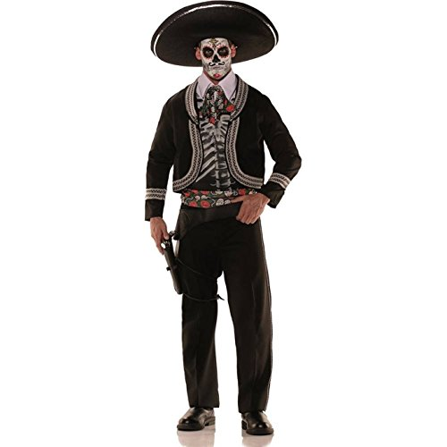 Mariachi Costume Man (Day of the Dead Bandolero Adult Costume)