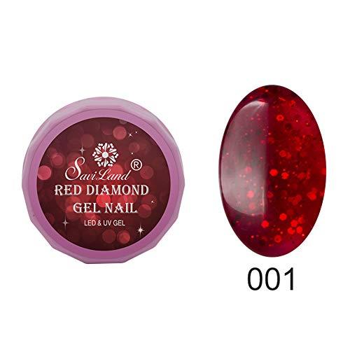 Gel Nail Polish Kekailu£¬ Glitter UV LED Gel Polish Long-lasting Soak Off Varnish Nail Art Lacquer Base - 1 ()