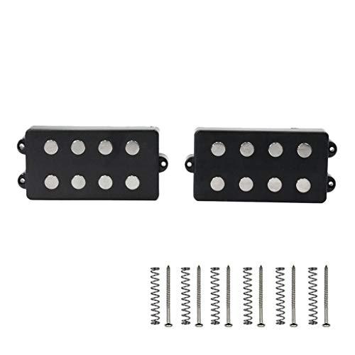 (D DOLITY 2 Pieces 4 String Bass Guitar Humbucker Pickups Neck Bridge)