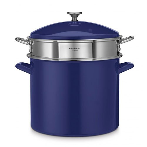 Cuisinart EOS206-33CBLS Stockpot/Steaming Set, Small, Cobalt Blue by Cuisinart