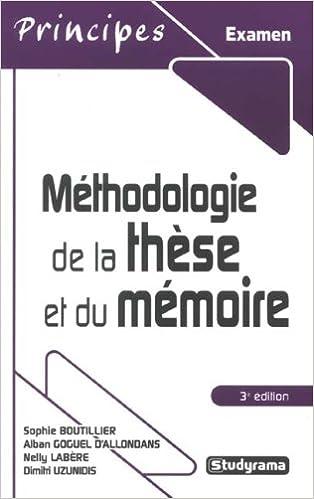 Méthodologie de la thèse et du mémoire pdf