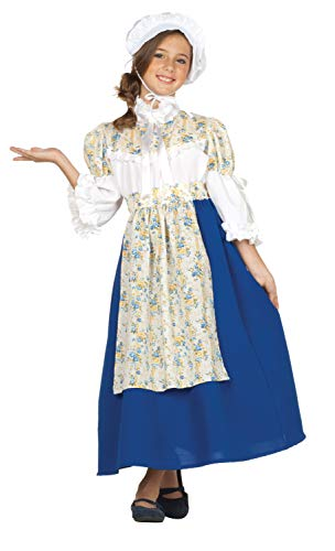 RG Costumes Colonial Beauty Costume, Blue/White/Yellow, Large