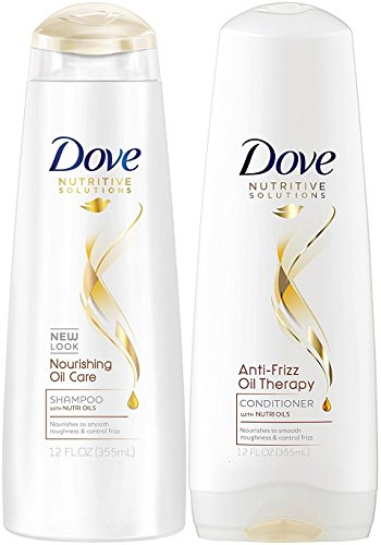 Dove Nutritive Therapy, Nourishing Oil Care, DUO Set Shampoo + Conditioner, 12 Ounce, 1 Each (Dove Essential Nutrients)