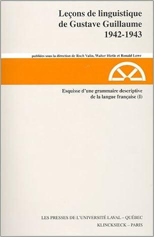 Read Online Leçons de linguistique de Gustave Guillaume, 1942-1943 epub, pdf