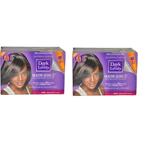 Discount Dark & Lovely [VALUE PACK OF 2] DARK AND LOVELY HEALTHY-GLOSS NO-LYE RELAXER KIT SUPER HAIR for sale